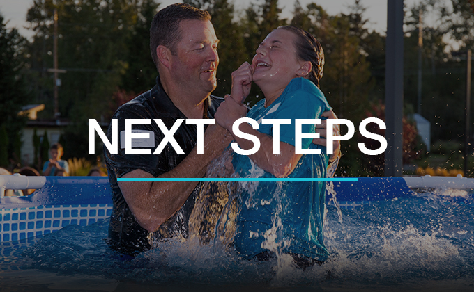 People take the next step in following Jesus by being baptized